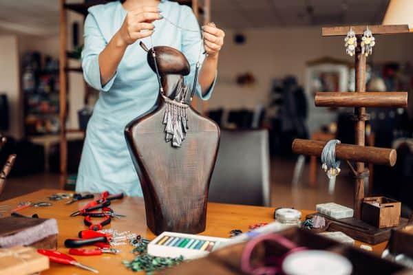 female jewelry maker